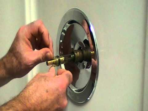 one piece shower faucet. How to repair a leaky single lever moen bath or shower faucet Older style