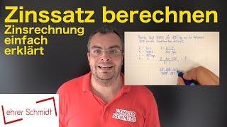Zinssatz berechnen - Zinsen und Zinsrechnung - Formel umstellen | Lehrerschmidt screenshot 2