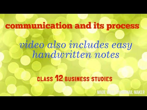 Communication And Its Process (class 12)