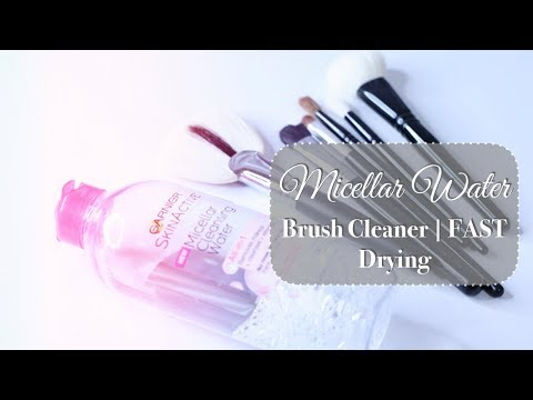 Watch Me Clean My Brushes in Under 5 mins w/Micellar Water