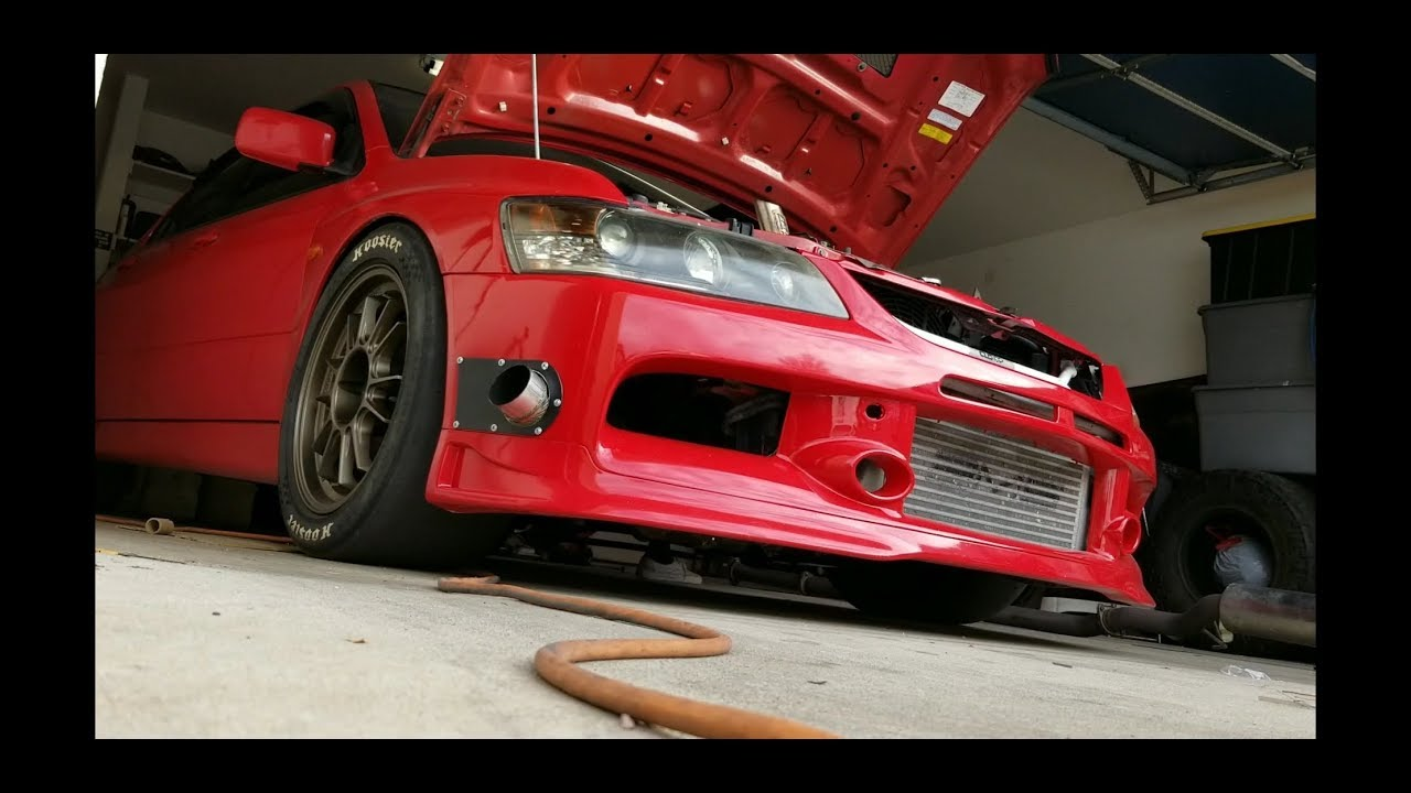 HEAT WRAPPING EVO 8/9 BUMPER EXIT EXHAUST