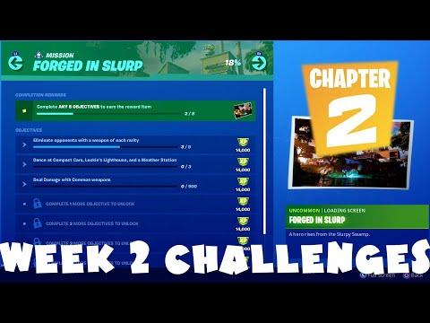 ALL Week 2 Chapter 2 Season 1 Challenges Guide - Forged In Slurp - Fortnite Battle Royale