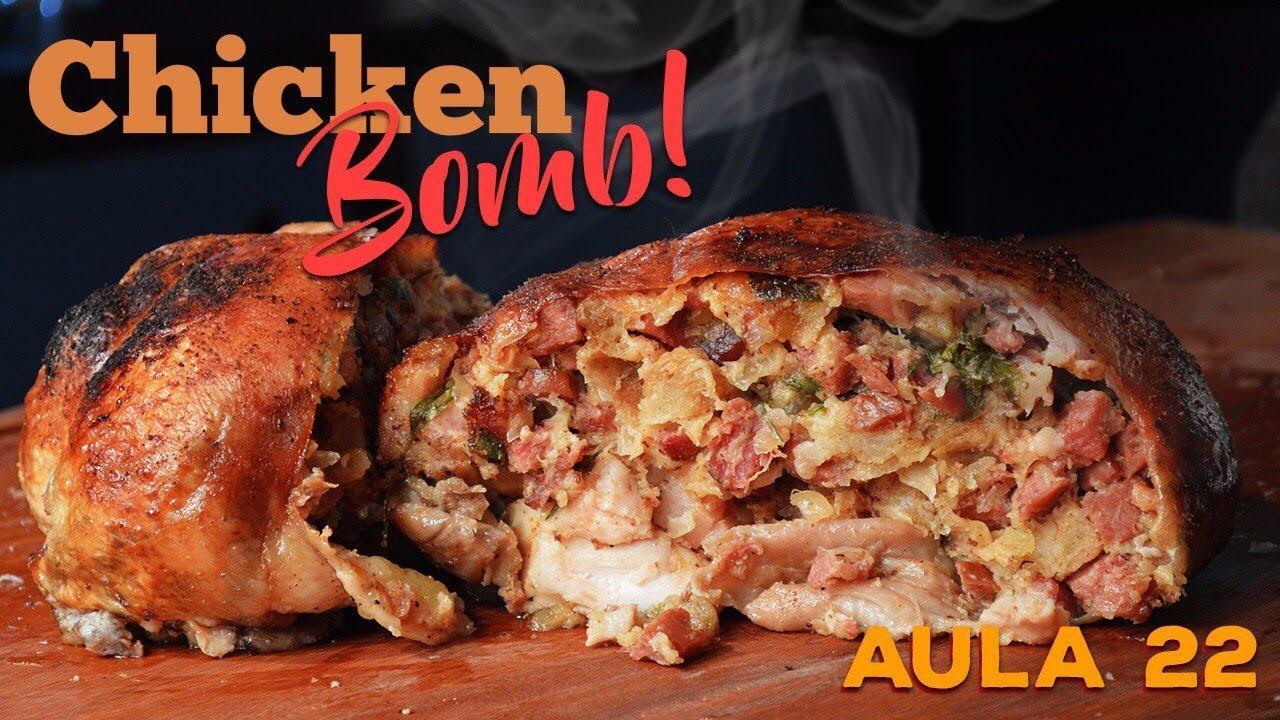 Chicken Bomb (Frango Desossado Recheado) / Cansei de ser Chef