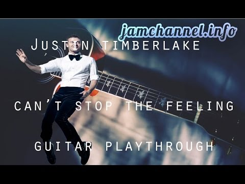 Cant Stop The Feeling Justin Timberlake Guitar Chords Playalong In C