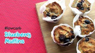 Low Carb Blueberry Muffins - #glutenfree #dairyfree #highfat #lchf