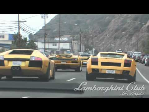 Lamborghini Club LA Santa Monica Run