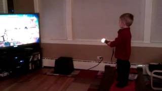 PS3 MOVE, even toddlers can do it! =D