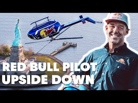 Red Bull Helicopter Flies Upside Down Ov...