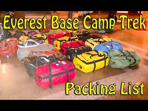 Comprehensive Everest Base Camp Trek Gear List
