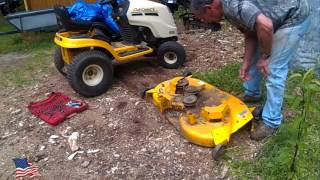 cub cadet mower deck repair