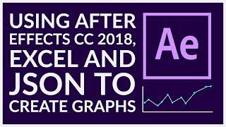 Mit After Effects CC 2018 -, Excel-und JSON-erstellen von Graphen
