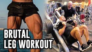 Mike Thurston Trains Legs With BEN PAKULSKI