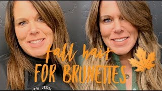 HOW TO: ADDING DIMENSION INTO BRUNETTE HAIR FOR FALL WITH GREY COVERAGE