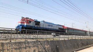 성환역 부근 지나가는 기차 전철 무궁화호 새마을호 화물…