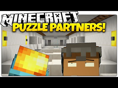Minecraft | PUZZLE PARTNERS! | TWO PLAYER PARKOUR! (Minecraft Custom Map)