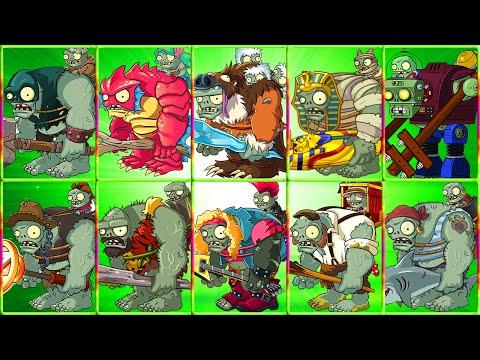 All Gargantuars Boss in Plants vs Zombies 2