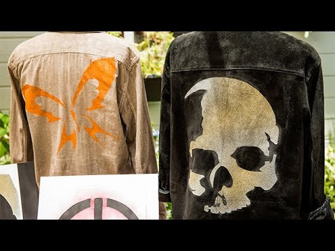 How To Orly Shani S Diy Stencil And Spray Paint Jacket