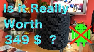 HomePod Unboxing and Full Review , is it Worth 349 $ ? , Apple HomePod Sounds Great