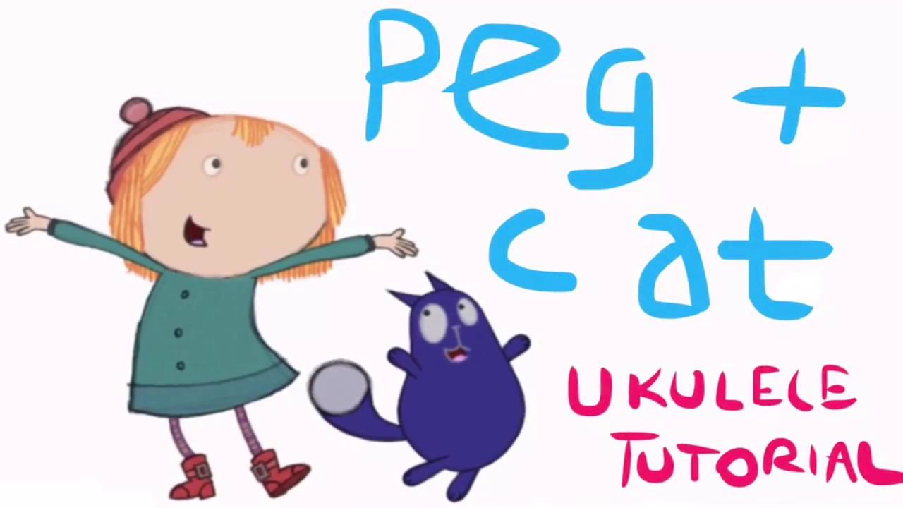 Peg + Cat Theme Song Ukulele Tutorial (REAL)