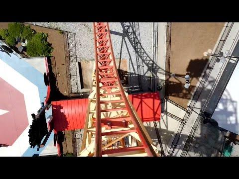 Dare Devil Dive Front Seat POV 2015 FULL HD Six Flags Over Georgia