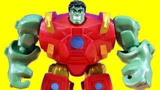 Marvel Super Hero Mashers Hulk And Hulbuster Mash To Battle Ultron thumbnail