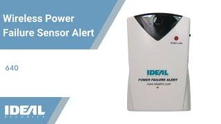 Ideal Security SK640 Wireless Power Failure Sensor Alert & Alarm