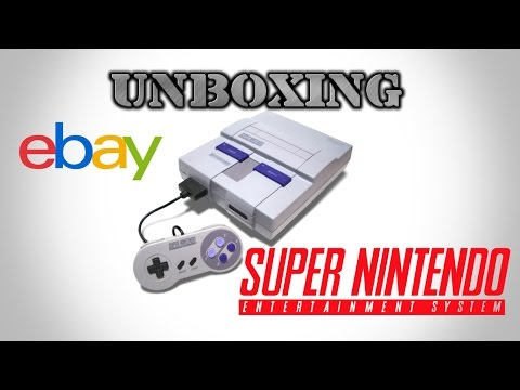 Super Nintendo Ebay Unboxing Huge HD [1080P]