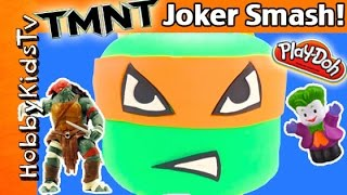 Giant TMNT MIKEY Play-Doh Lego Head Makeover