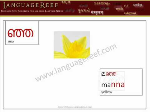 Malayalam Kuttaksharangal/compound letters - Learn Indian Language Series(with audio)