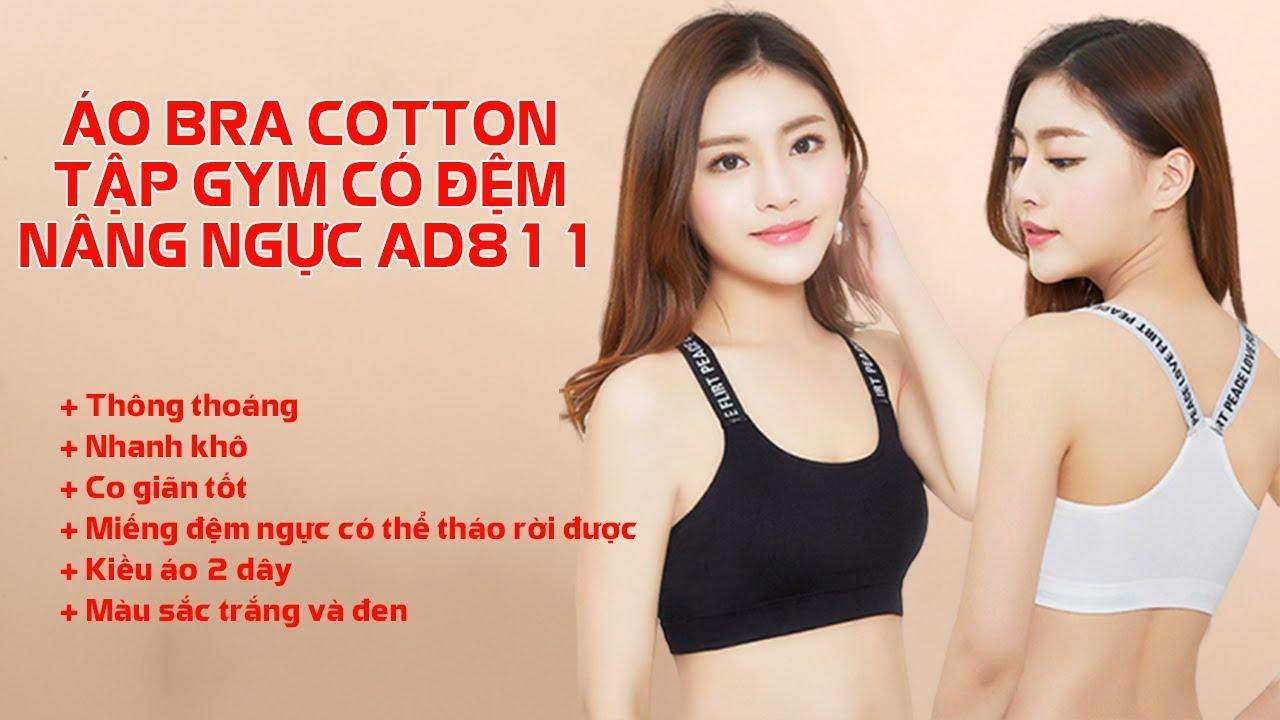 Áo Bra Cotton Tập Gym Có Đệm Nâng Ngực AD811 – Sportslink Channel