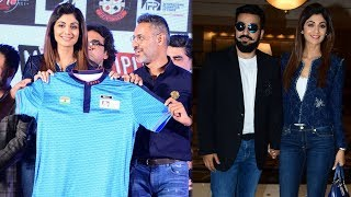 Raj Kundra & Shilpa Shetty At The Official Announcement Of The Indian Poker League