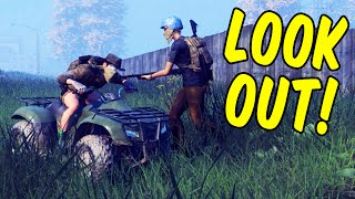 LOOK OUT! - H1Z1 Battle Royale Funny Moments (H1Z1: King of the Kill Funny Moments)