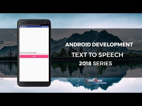 Android Development Tutorial - Text To Speech