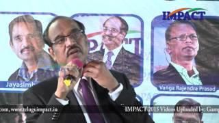 సర్దుకు పోదాం  రండి by Dr BV Pattabhiram at IMPACT Hyderabad 2016