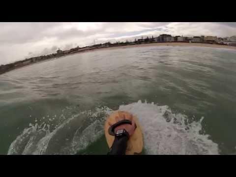 Bodysurfing Bondi with WAW Handpanes