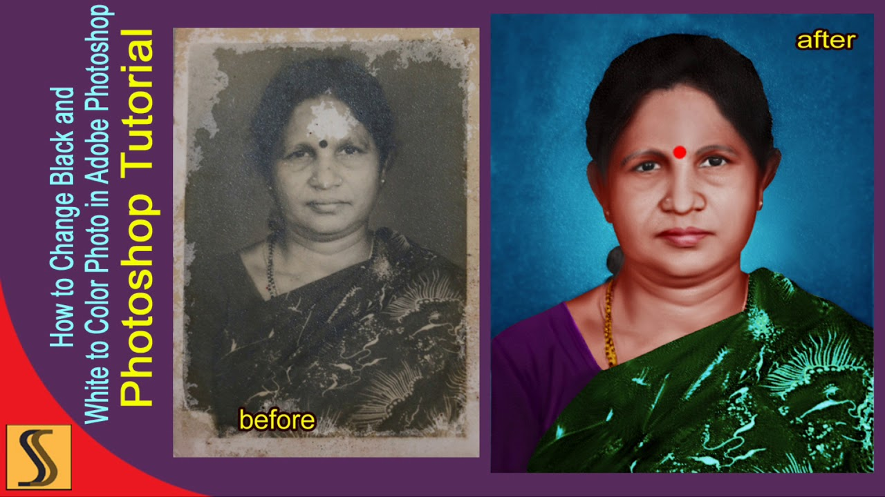 How to black and white photo to colour photoshop tutorialss designer