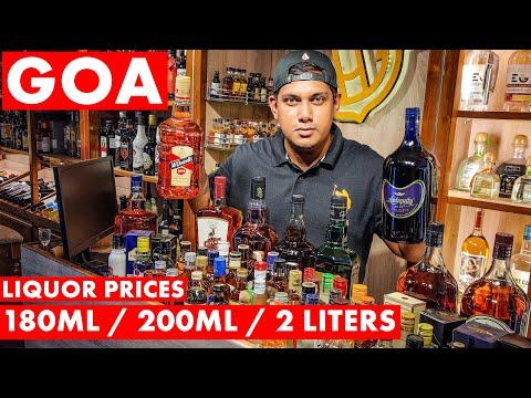 GOA | Liquor Prices - 2021 | 180ml / 200ml / 2 Liters | Whiskey, Vodka, Rum | Biggest Collection |