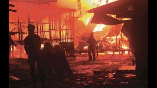 Massive Sandakan blaze sees 35 houses go up in smoke