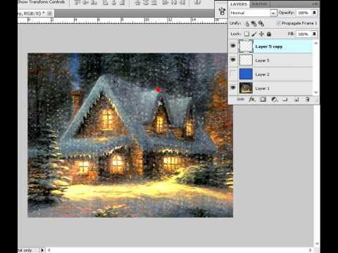 gif анимация снег
