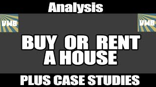 Planning to buy a house? Think again! Buy Vs Rent Analysis