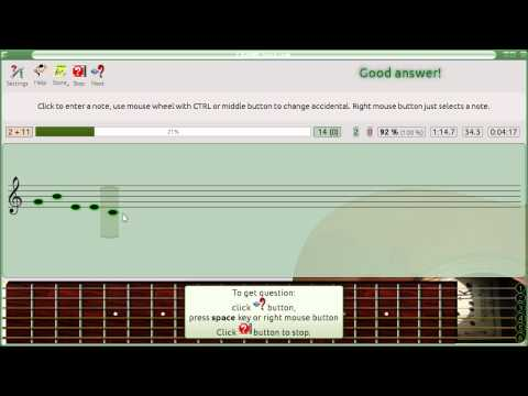 Exercises with Nootka: musical dictation