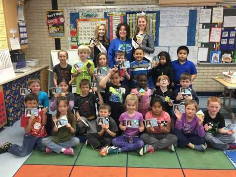 Miss America Serves Day!  School Visits to promote reading and the arts.  River Valley Girls 2017