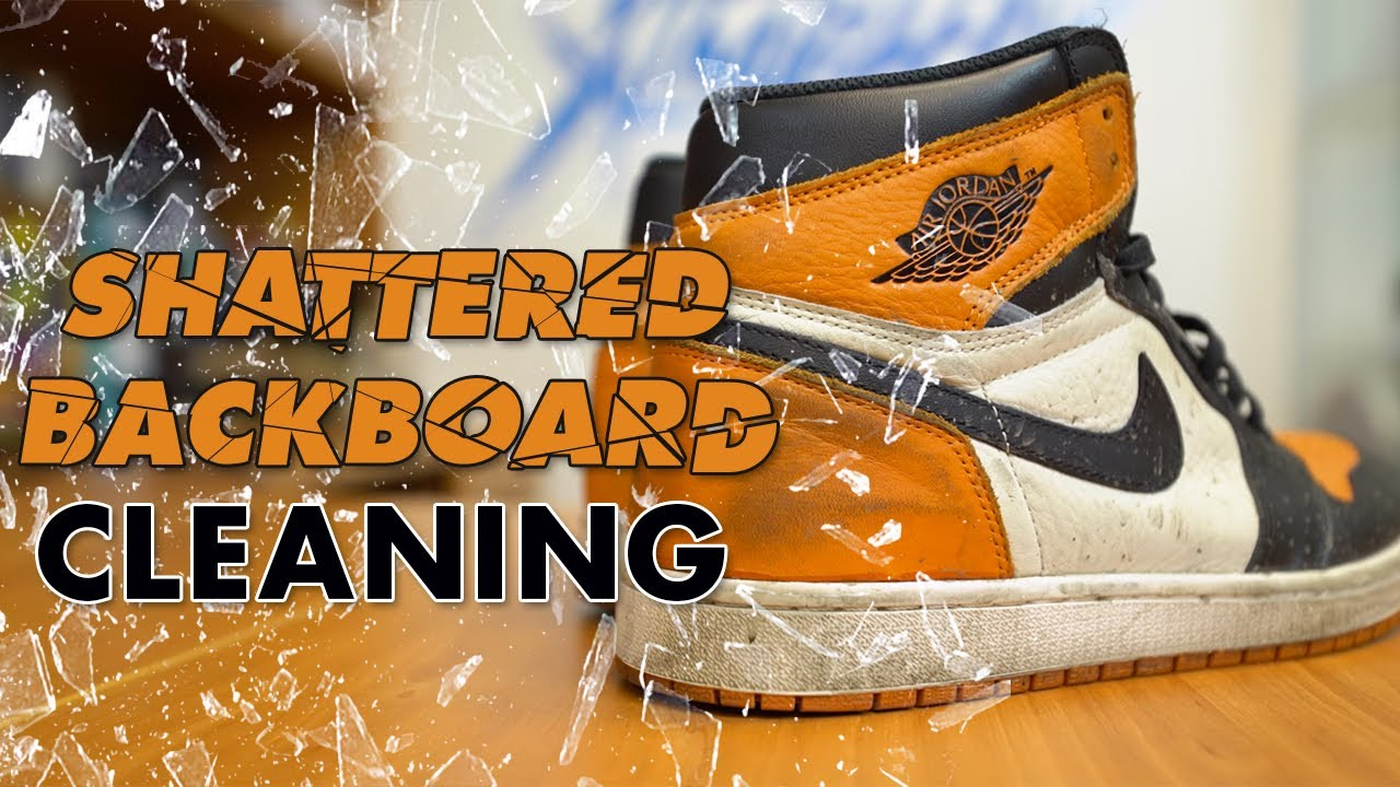b28cc1c43663 The best way to clean Air Jordan 1 Shattered Backboards - YouTube