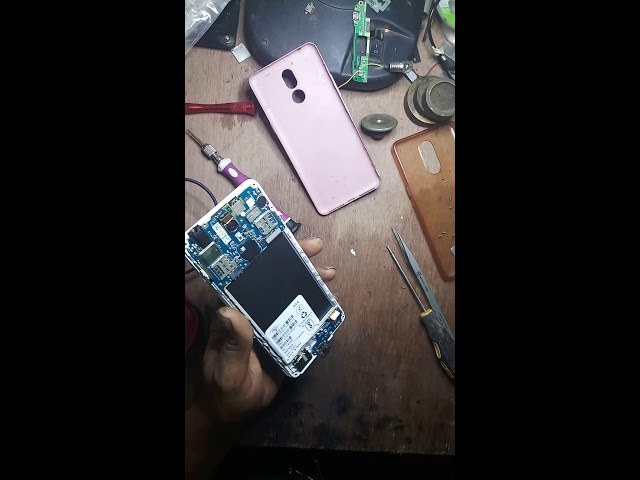 itel A44 touch lcd remove