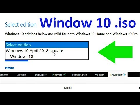 How To Download Windows 10.iso Without Media Creation Tool (From Microsoft 2018)