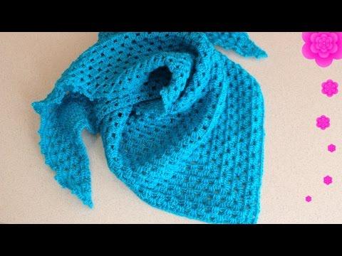 Красивый шарф спицами из пряжи Кауни.
