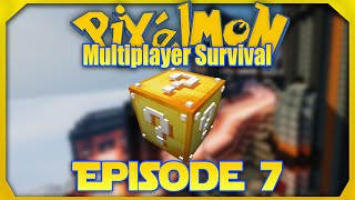 Minecraft Pixelmon 4.2.0 - Episode 7 - Lucky Blocks (Pixelmon 1.8 Survival)