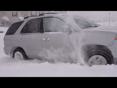 ACURA MDX In Snow