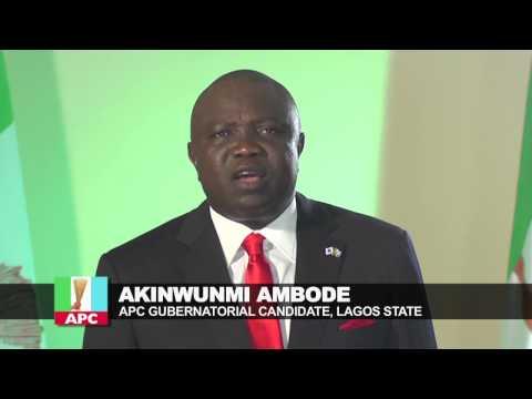 WATCH AKINWUNMI AMBODE'S MESSAGE TO LAGOSIANS