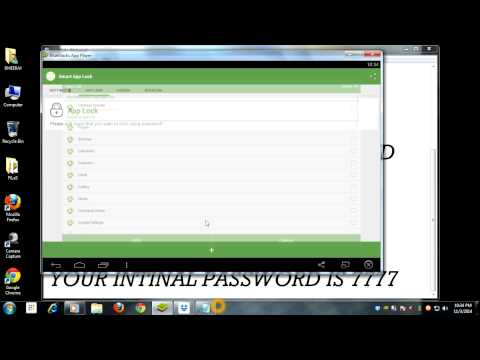 HOW TO SET PASSWORD FOR BLUESTACK APPS Mp3